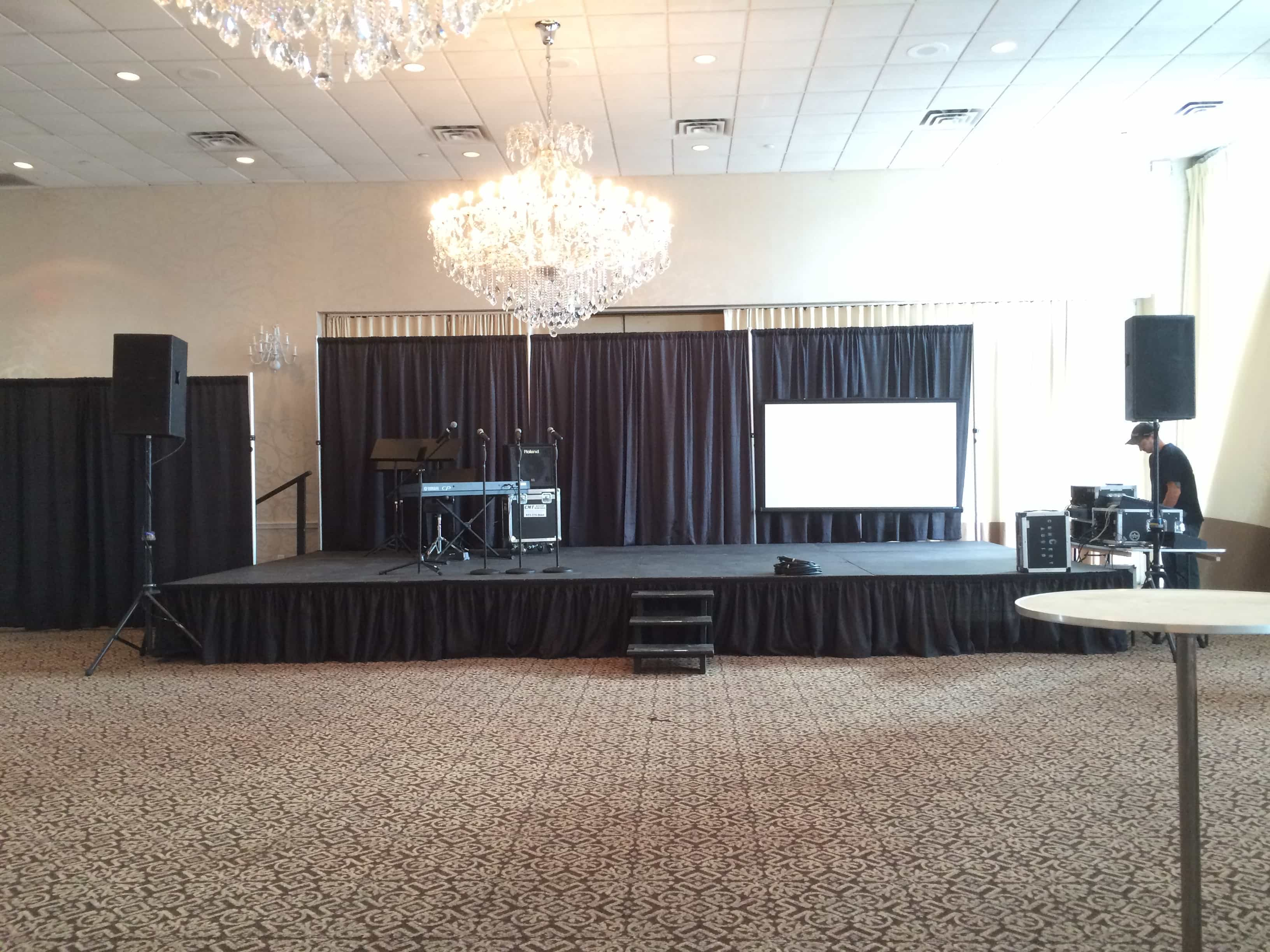 pipe pipedrape convention backdrop drape of s harold drapes rentals and florida