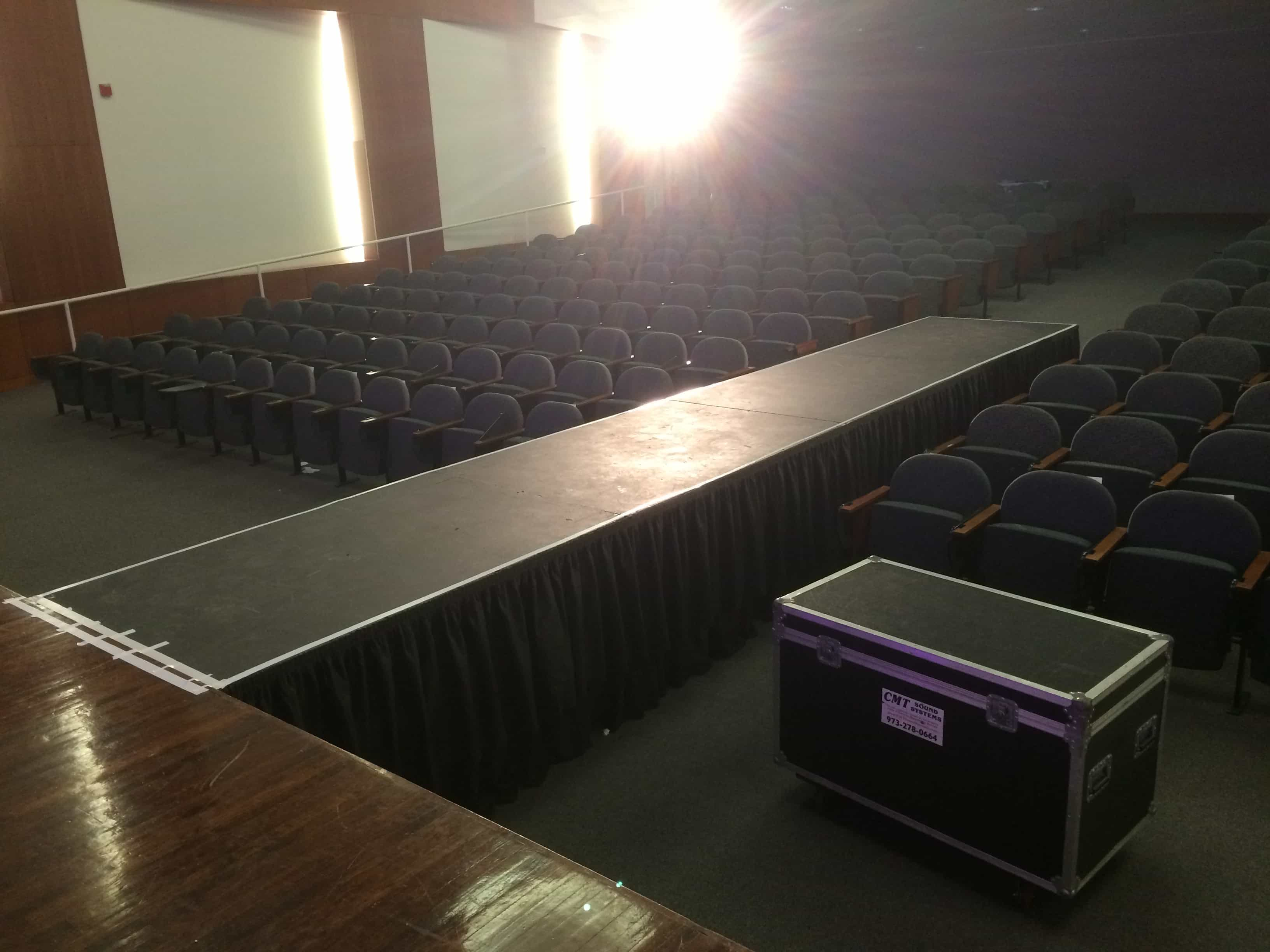 Fashion show staging sound and lighting in nj for Runway stages