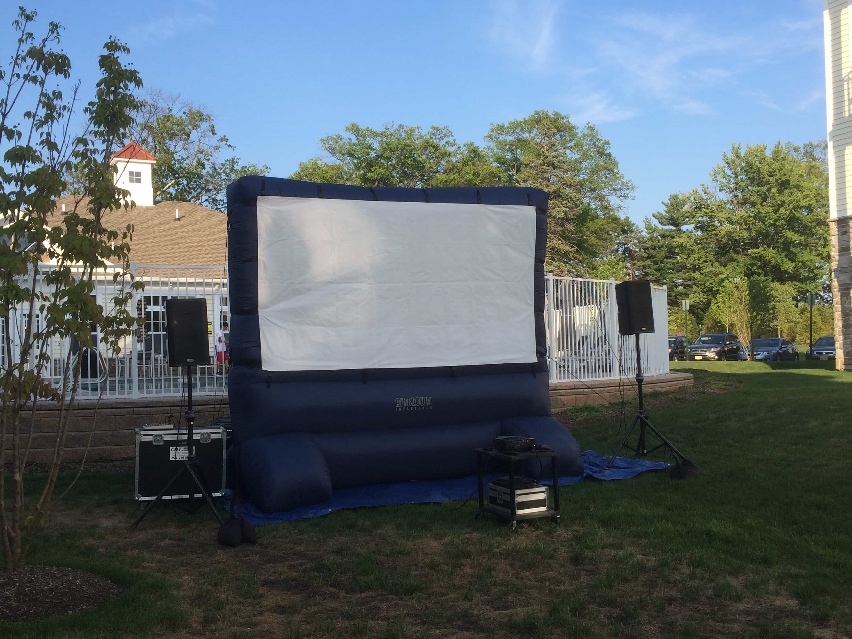 Inflatable Movie Screen Rentals In Nj Cmt Sound Systems